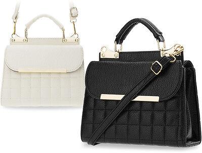 einzigartige kleine Damentasche zweiseitig gesteppt Bowlingbag