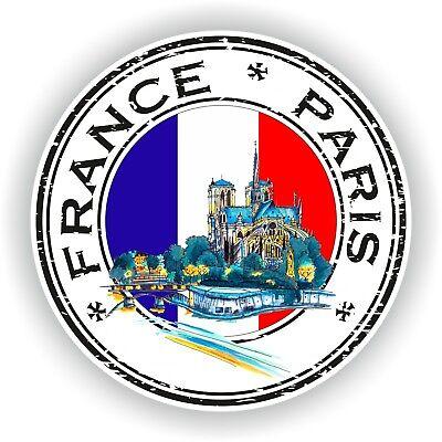 Sticker Frankreich Paris Notre Dame Stempel Stoßstange Scheibe Laptop Auto #02