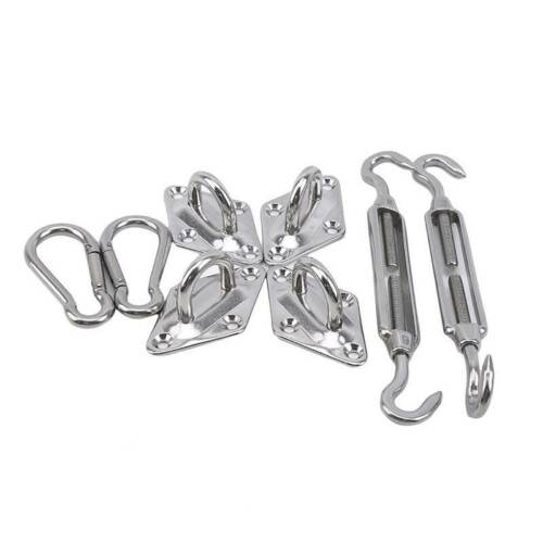 Stainless Steel 5/&6mm Shade Sail Hardware Accessory For Wall Mounting Fixing Q