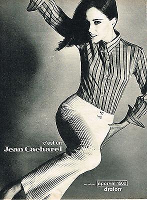 Collectibles Publicite Advertising 1966 Cacharel Jean En Velours Sporvel Lustrous Other Breweriana