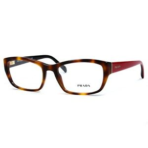 f117ceebac0 Prada VPR 18O TKR-101 Havana Red New Authentic Eyeglasses Frames ...