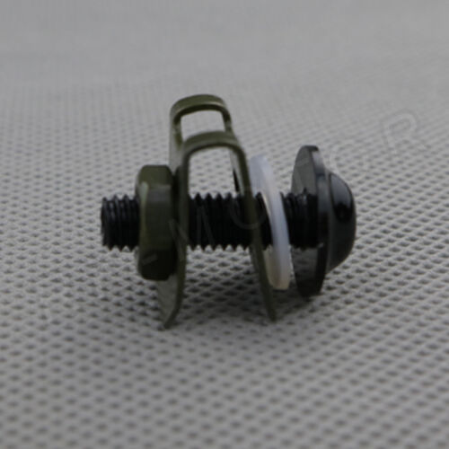 1pcs M6 Motorbike Fairings Bolts Kits Spring Nuts for Yamaha Black