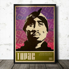 Tupac Shakur Hip Hop Art Poster Rap Music Biggie Smalls Gangster NWA Nas