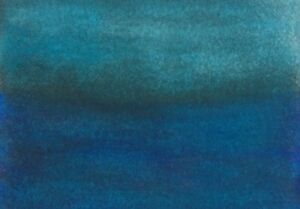 MUTED-BLUE-LAKE-LANDSCAPE-ACEO-Pen-Ink-Painting-2-5x3-5-Julia-Garcia-Art-NEW