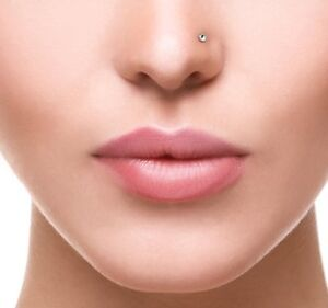 Sterling Silver Nose Stud Smallest 1 Mm Crystal Nose Ring Ball End
