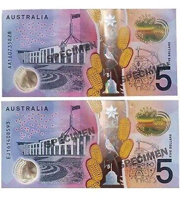 *2016 First Prefix AA Australian $5 note UNC*