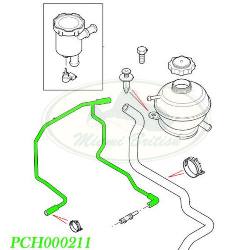 LAND ROVER EXPANSION TANK BLEED HOSE FREELANDER PCH000211 ALLMAKES4x4