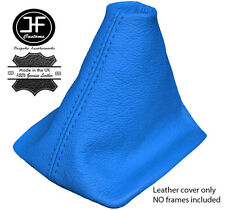 BLUE REAL LEATHER MANUAL GEAR GAITER FOR VW NEW BEETLE 1998-2011