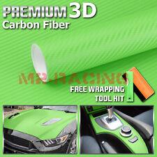 12x60 3d Carbon Fiber Textured Green Matte Car Vinyl Wrap Sticker Decal Sheet
