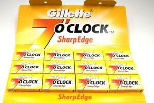 60-Lames-de-Rasoir-Gillette-7-O-039-Clock-Sharpedge-pour-Securite-Sharp-Bord