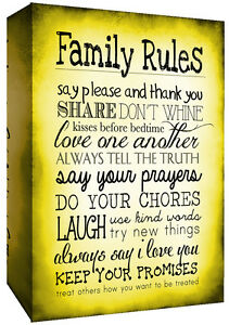 Yellow Canvas Wall Art Picture Print FAMILY QUOTE Life Mustard ALL SIZES