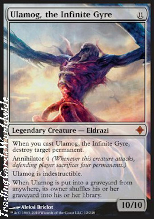 Ulamog, the Infinite Gyre    NM    Rise of the Eldrazi    Engl.    Magic