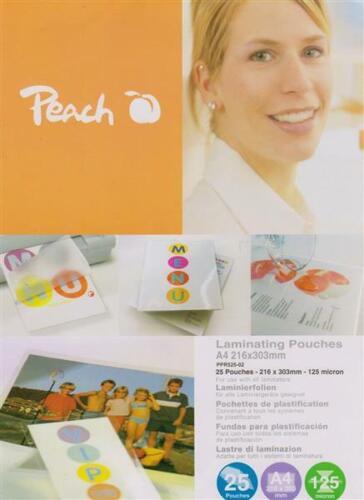 25 Stk. Peach Laminierfolien A4 125 mic glänzend PPR525-02
