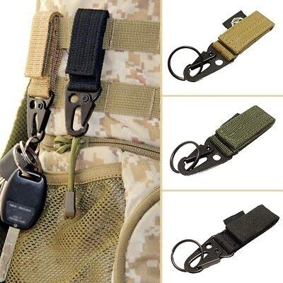 Military Key Hook Webbing Molle Buckle Outdoor Hanging Belt Carabiner Clip AL