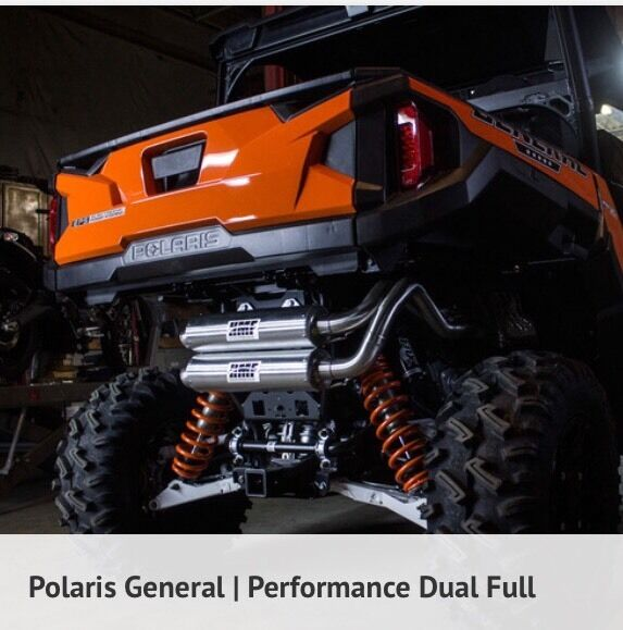 Details about Polaris General 2016-2017 HMF Performance Series Dual Full  Exhaust RZR1000S