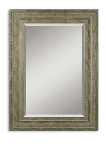Distressed Wood 36 Quot Wall Mirror Designer Vanity Gray