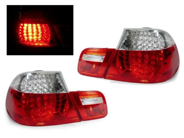 Refurb DEPO 04-06 BMW E46 2d Coupe Red Clear LED Tail Light M3 Replacement
