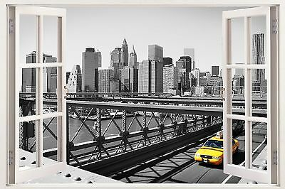 New York Decal 3D window wall view sticker removable vinyl wall art mural w141