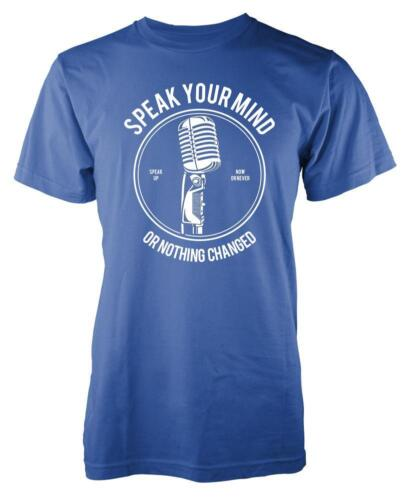 BNWT SPEAK YOUR MIND NOTHING CHANGED MICROPHONE SINGER  ADULT T-SHIRT S-XXL