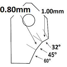 45°-1.70mm,Valve seat cutting carbide tip bit,SERDI NEWEN ROTTLER SUNNEN GOODSON
