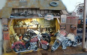 QHC-Diorama-1-18-034-Harley-Davidson-Workshop-034-with-lighting