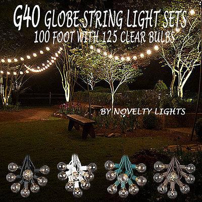 Foot Outdoor Globe Patio String Lights