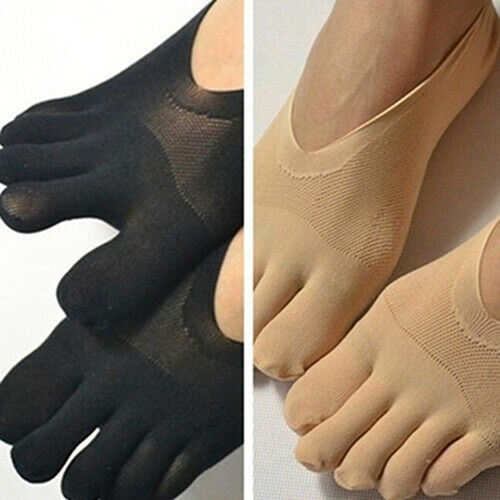 Womens Yoga Socks Gym Fitness Five Toes No Show Socks Anti-s