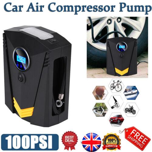 Digital Tire Inflator 12V 120W Car Electric Air Compressor Pump W// Light 100PSI