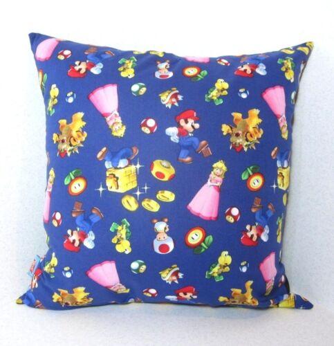 "Super Mario Yoshi Princess Peaches Handmade Coussin Gaming 90 S 16X16/"" geek retro"