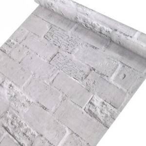 Home Cal Waterproof Self-Adhesive Paper Wallpaper,Gray with Letter,1.48ⅹ16.4ft