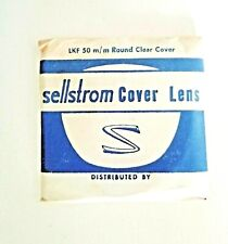 4 Vintage Goggle Welding Lens Glass Lkf Round Clear Cover Lens 50mm Sellstrom