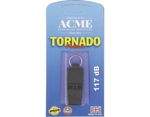 """Acme ACME636B Tornado Slimline Whistle Black 2/"""" x 1/"""" x 1/"""""""