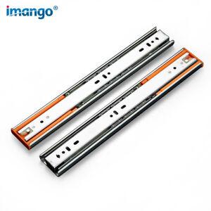 2pcs-Drawer-Slides-Silent-Buffer-Damping-Slide-Cabinet-Drawer-Self-locking-Rails