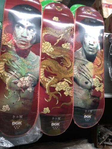 Bruce Lee Holographic Skateboard DGK Golden Dragon Red Lenticular Deck