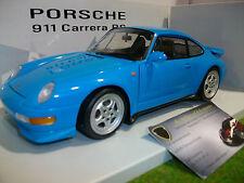 PORSCHE 911 Type 993 CARRERA RS Bleu au 1/18 UT MODELS 27818 voiture miniature