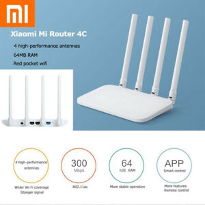 Details about Xiaomi Mi 4C Router 4 Antenna 2 4G 300Mbps 64MB APP Control  WiFi Wireless Router