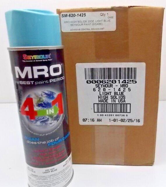 6 Seymour 620 1425 Mro Industrial Enamel 16oz Spray Paint Light Blue 072018 39