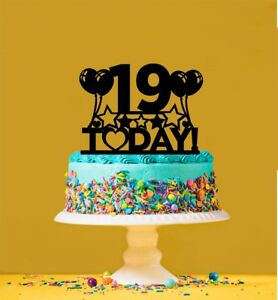 Image Is Loading 19th Birthday Cake Topper 19 Years Old Nineteenth