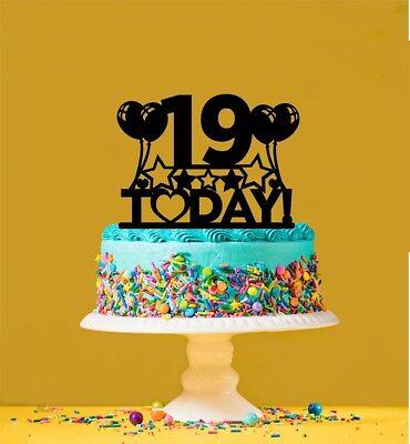 Wondrous 19Th Birthday Cake Topper 19 Years Old Nineteenth Ebay Funny Birthday Cards Online Alyptdamsfinfo