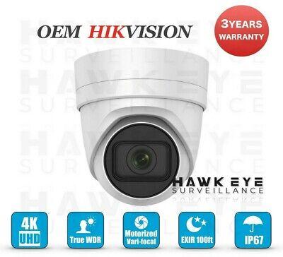 Hikvision OEM DS-2CD2H85FWD-IZS HES328-XDZ 4K 8MP IP Motorized Lens Turret PoE