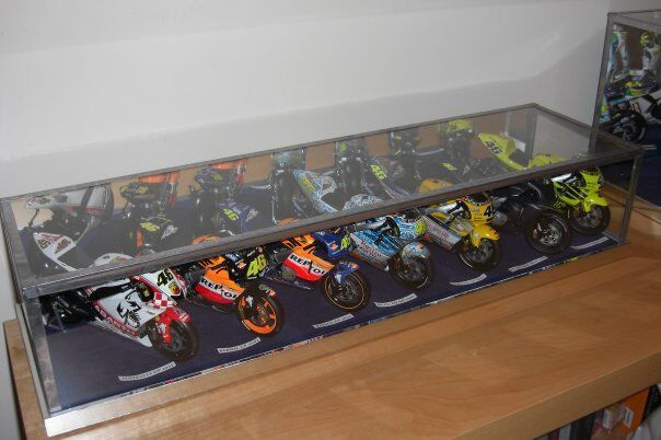 1 12 MINICHAMPS WORLD SUPERBIKE - MULTI BIKE GLASS DISPLAY CASE ONLY
