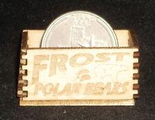 Dollhouse Miniature Frost Polar Bears Crate 1:12 Store Texas Food Farm Market