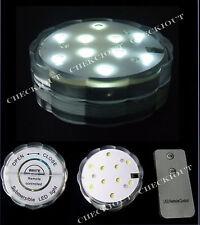 1 WHITE 10 LED submersible Wedding Floralytes Vase Base Light Remote Control