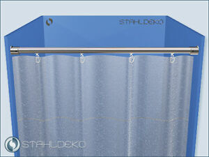 Duschvorhang Stange Innenlauf Wand Deckenbefestigung Ebay