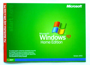 Microsoft Windows XP Home Edition OS Version 2002 OEM With ...