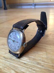 Ww2-original-non-magnetic-bomb-disposal-officers-9-carat-gold-wrist-watch-workin