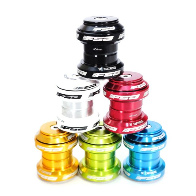 1 Pcs 34mm Threadless Bike Headset With Top Cap Black For FSABicycle Headset