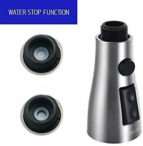 Kitchen Faucet Head Universal Replacement Sprayer Pull Out Spray Brushed Nickel Ebay