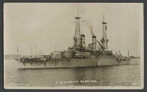 c-1909-RPPC-Photo-Postcard-U-S-S-SOUTH-CAROLINA-BB-26-Dreadnaught-Battle-Ship