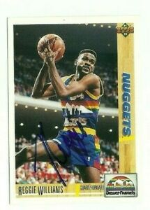 Reggie Williams 1991-92 Upper Deck signed auto autographed card Nuggets